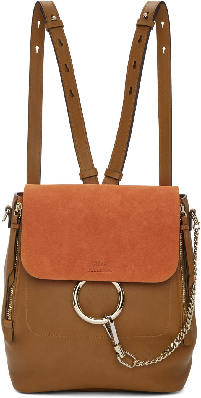 Chloe Tan Medium Faye Backpack