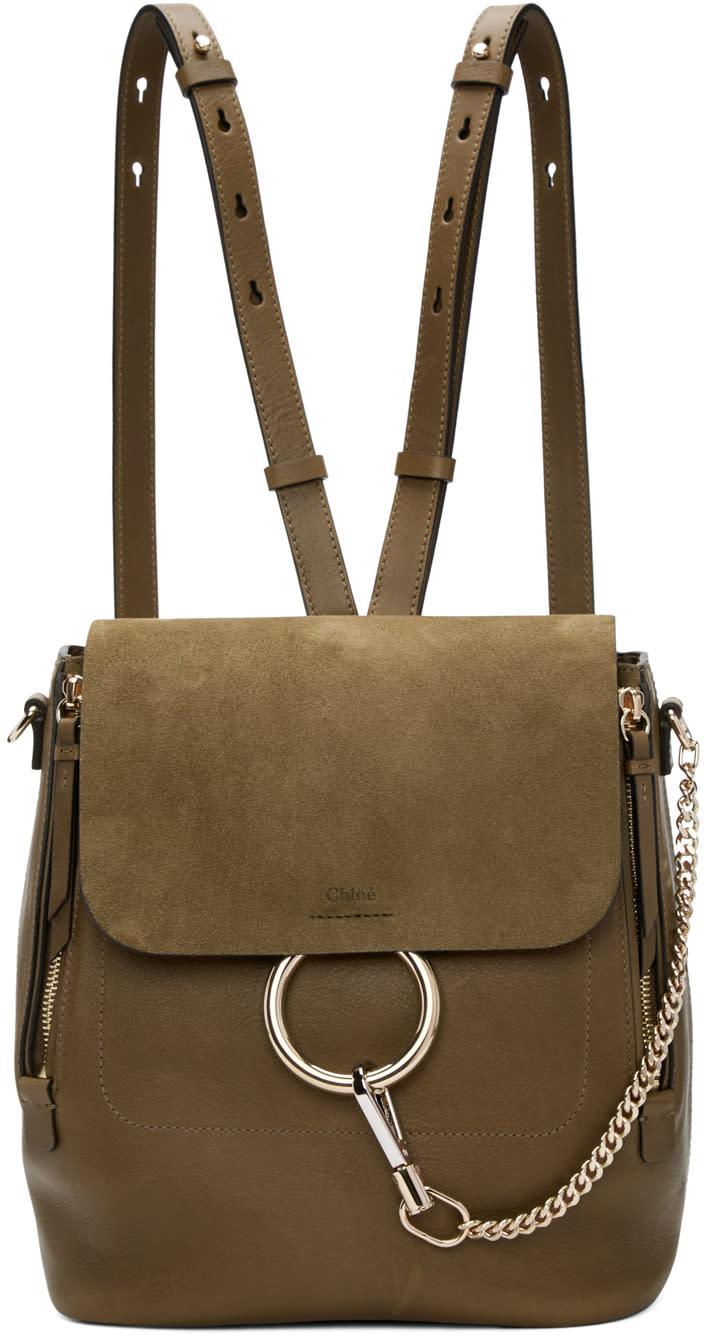 Chloe Khaki Medium Faye Backpack