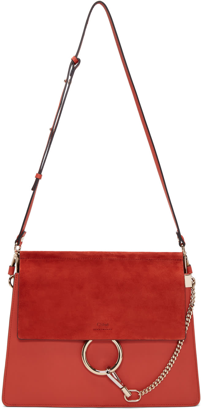 Chloé Red Medium Faye Bag