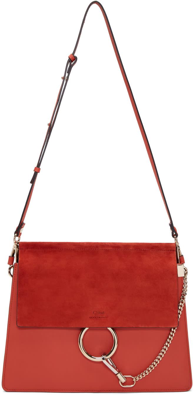 Chloe Red Medium Faye Bag