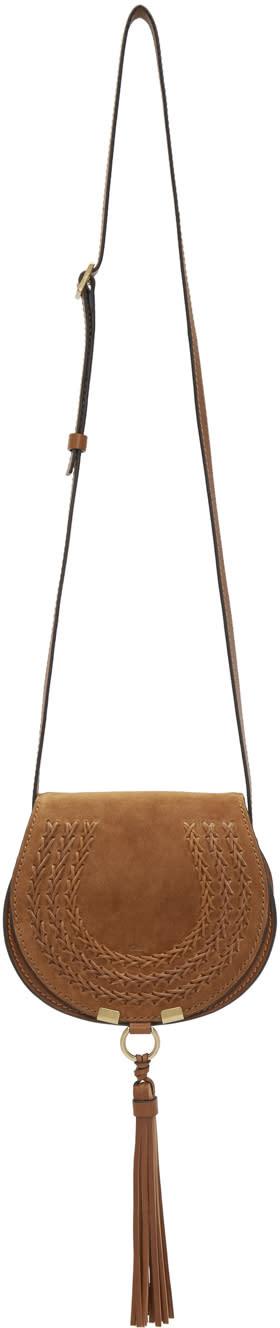 Chloe Tan Small Marcie Saddle Bag