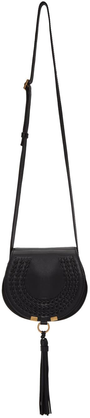 Chloe Black Small Marcie Saddle Bag