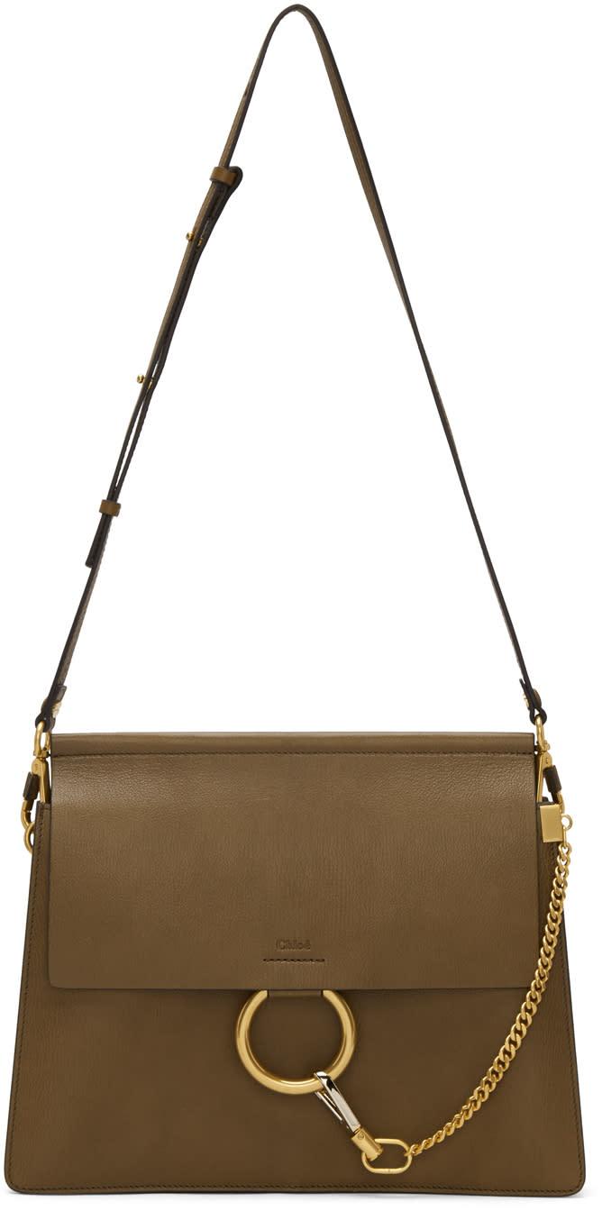 Chloe Khaki Medium Faye Bag