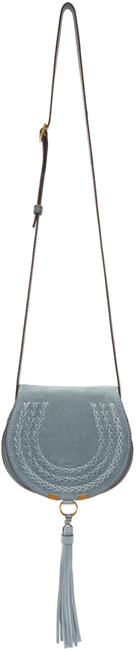 Chloe Blue Small Marcie Saddle Bag