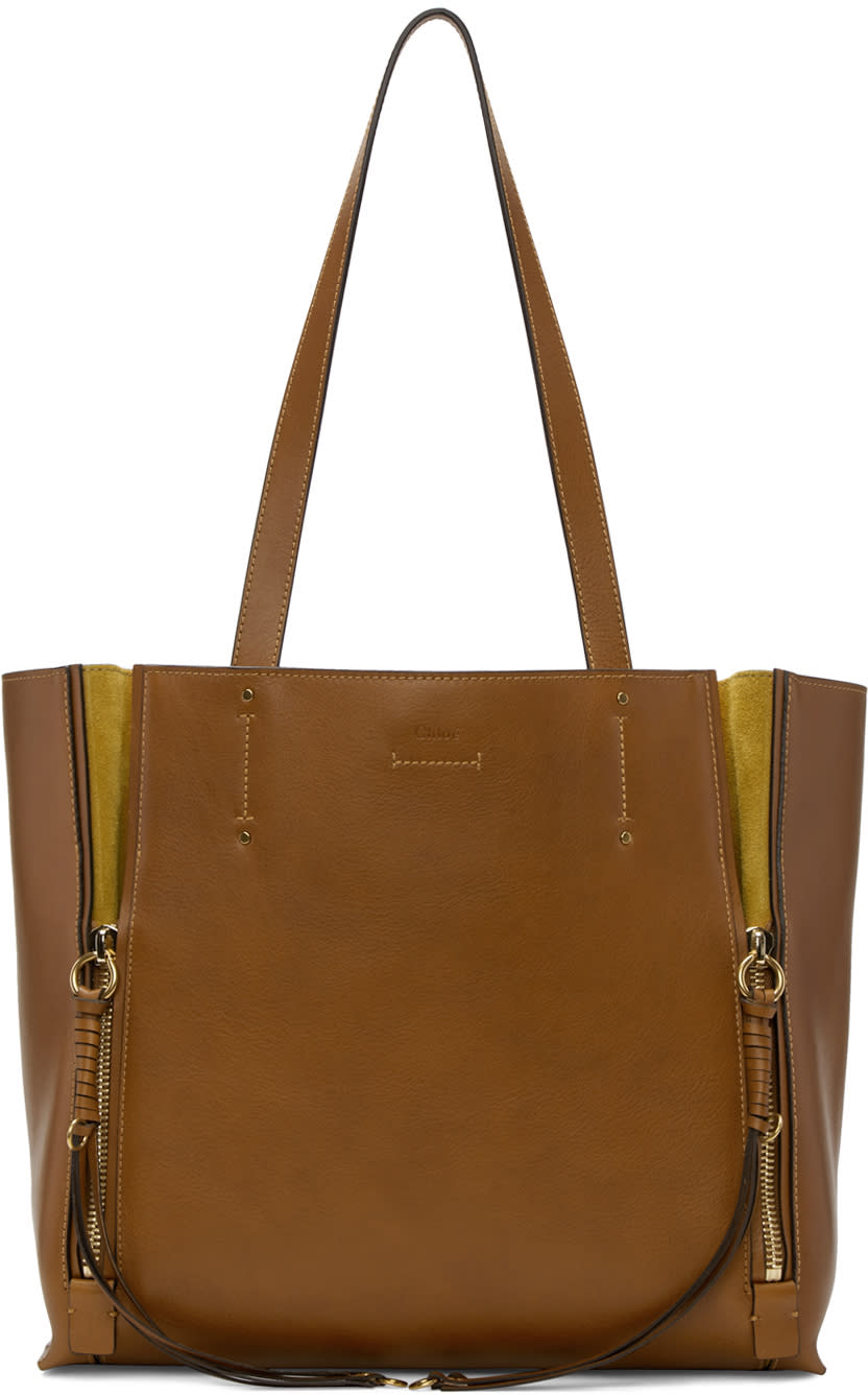 Chloé Brown Medium Milo Tote Bag