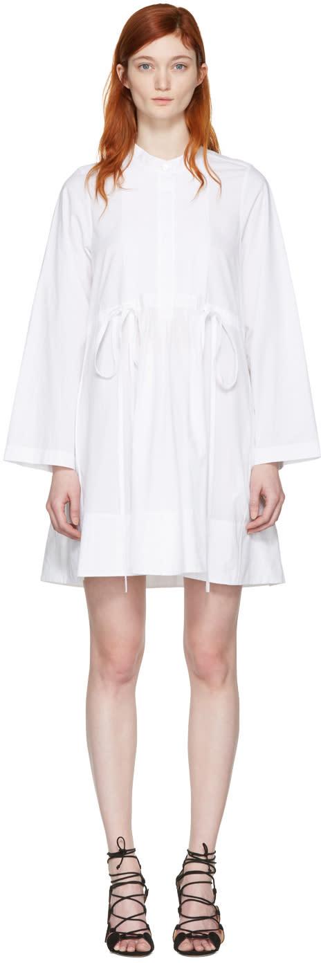Chloe White Poplin Shirt Dress