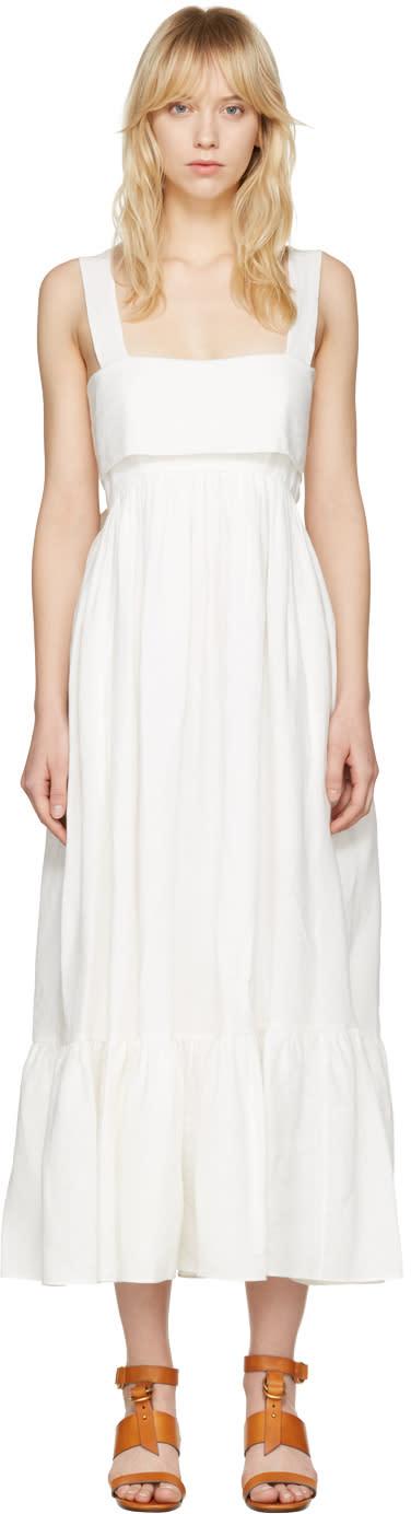 Chloé White Bow Back Dress
