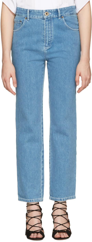 Chloe Blue Scalloped Jeans
