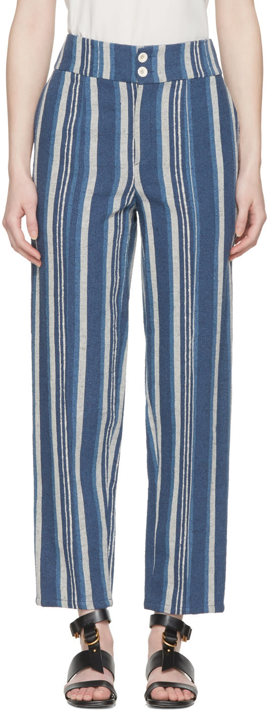 Chloe Blue Striped Lounge Pants