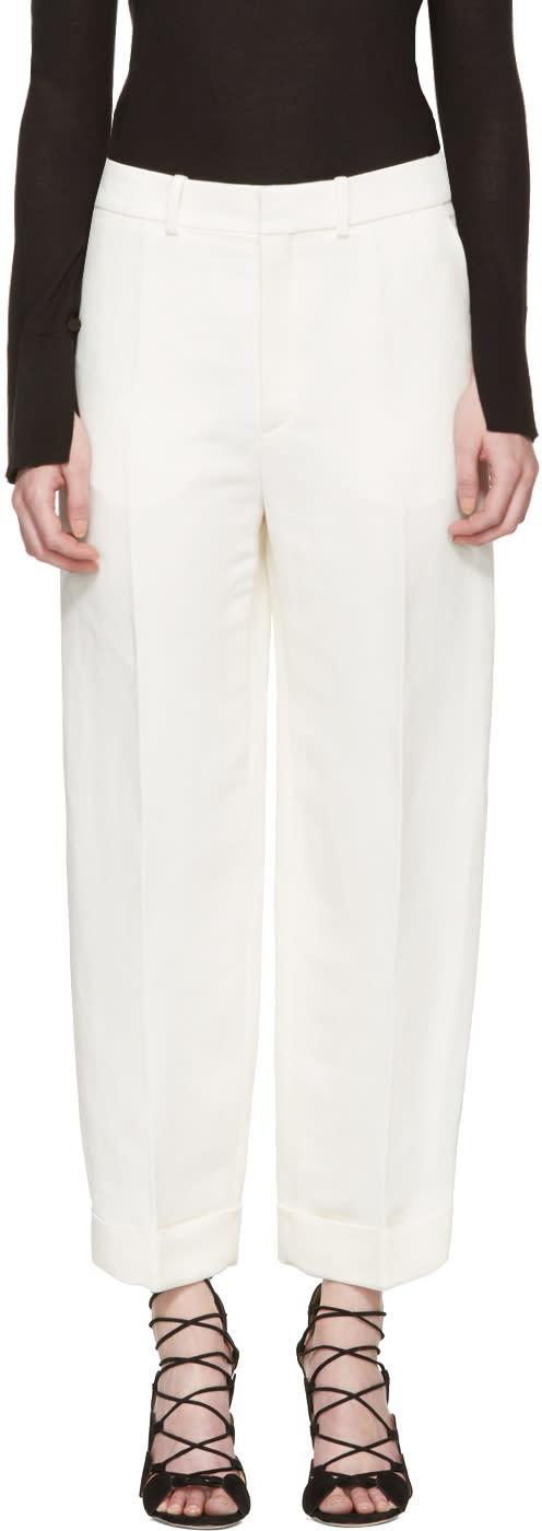 Chloe Ivory Cuffed Trousers