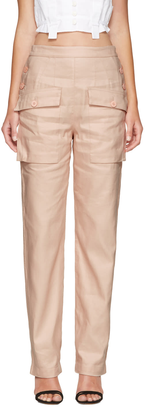 Chloe Pink Cargo Pockets Trousers