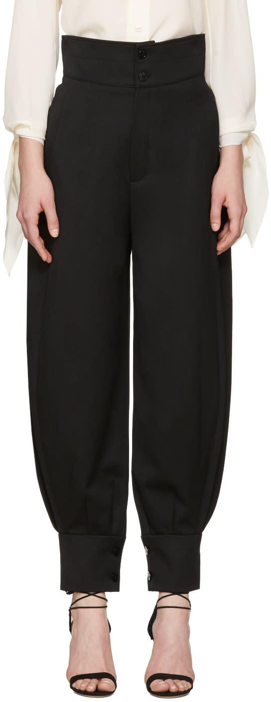 Chloe Black High-rise Trousers