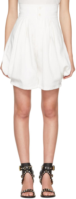 Chloe Ivory High-rise Shorts