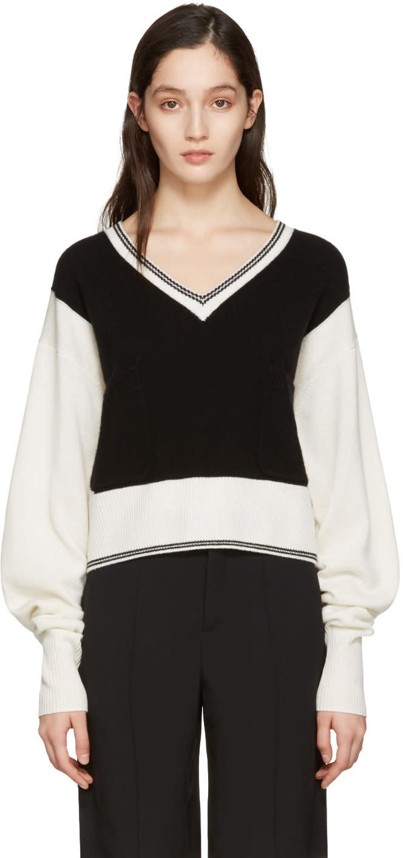 Chloe Black Cashmere Varsity Sweater