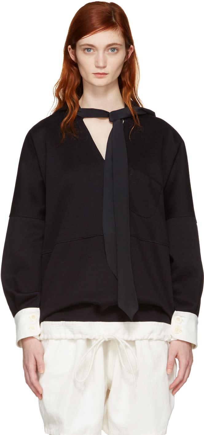 Chloe Navy Oversized Scarf Sweater