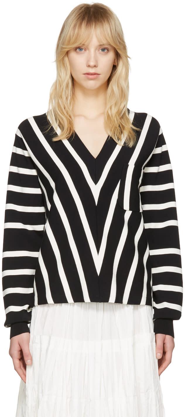 Chloe Black Striped Sailor Pullover