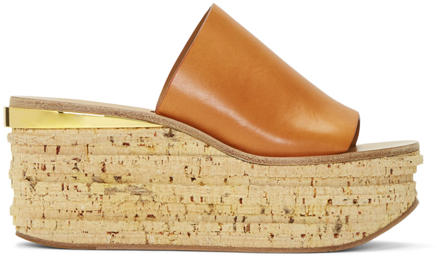 Chloe Brown Camille Wedge Mules