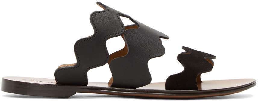 Chloe Black Lauren Slide Sandals