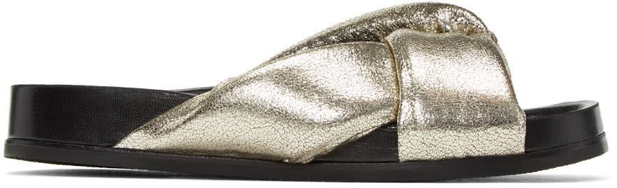 Chloe Silver Nolan Slide Sandals