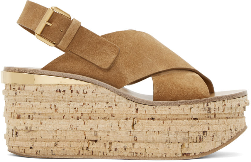 Chloe Tan Camille Wedge Sandals