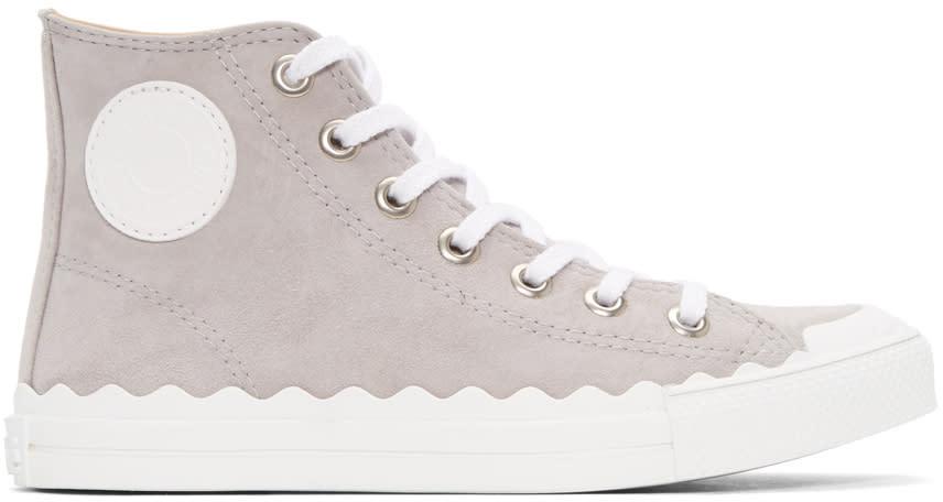 Chloe Grey Kyle High-top Sneakers