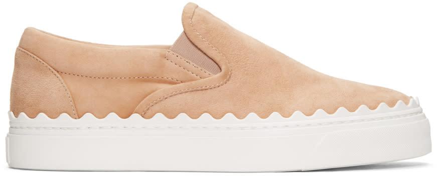Chloe Beige Ivy Slip-on Sneakers