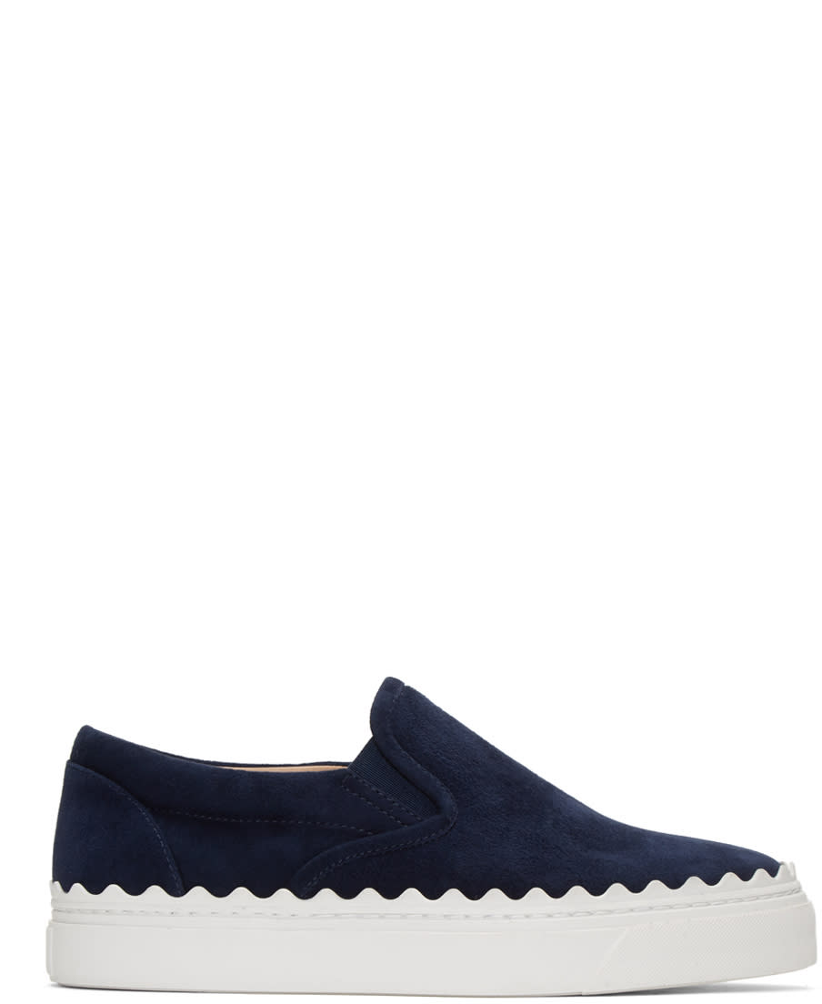 Chloe Blue Ivy Slip-on Sneakers