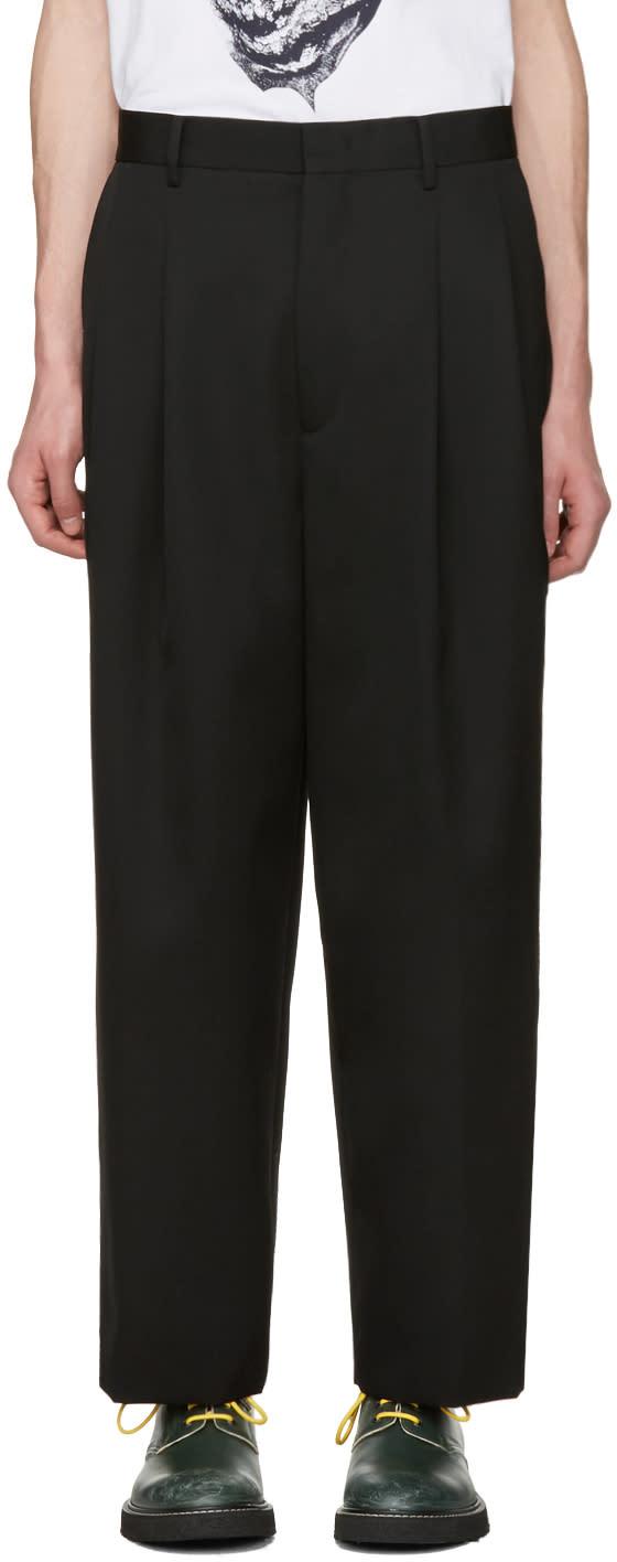 Juun.j Black Pleated Trousers