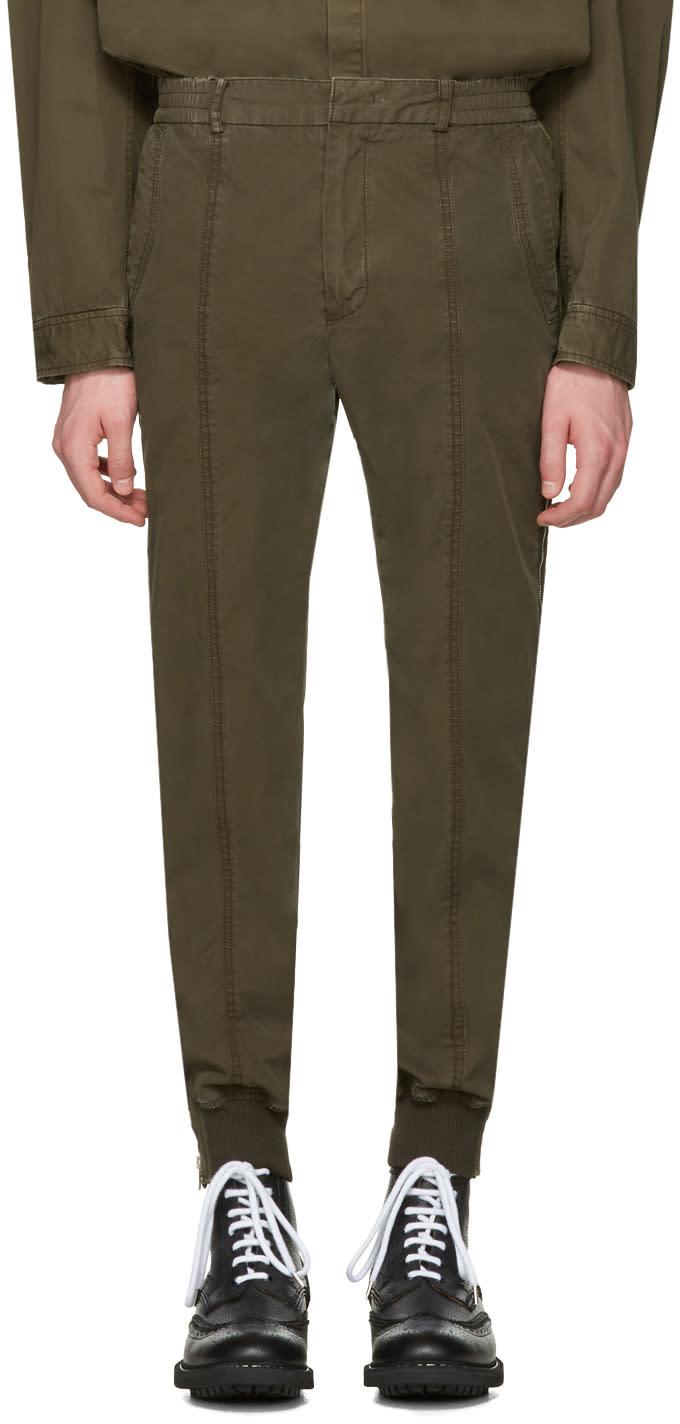 Juun.j Khaki Side Zip Trousers