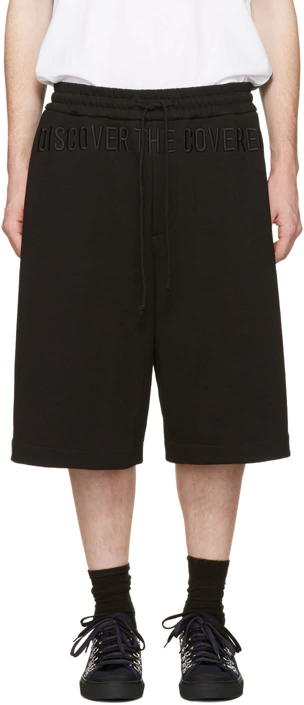 Image of Juun.j Black discover The Covered Lounge Shorts