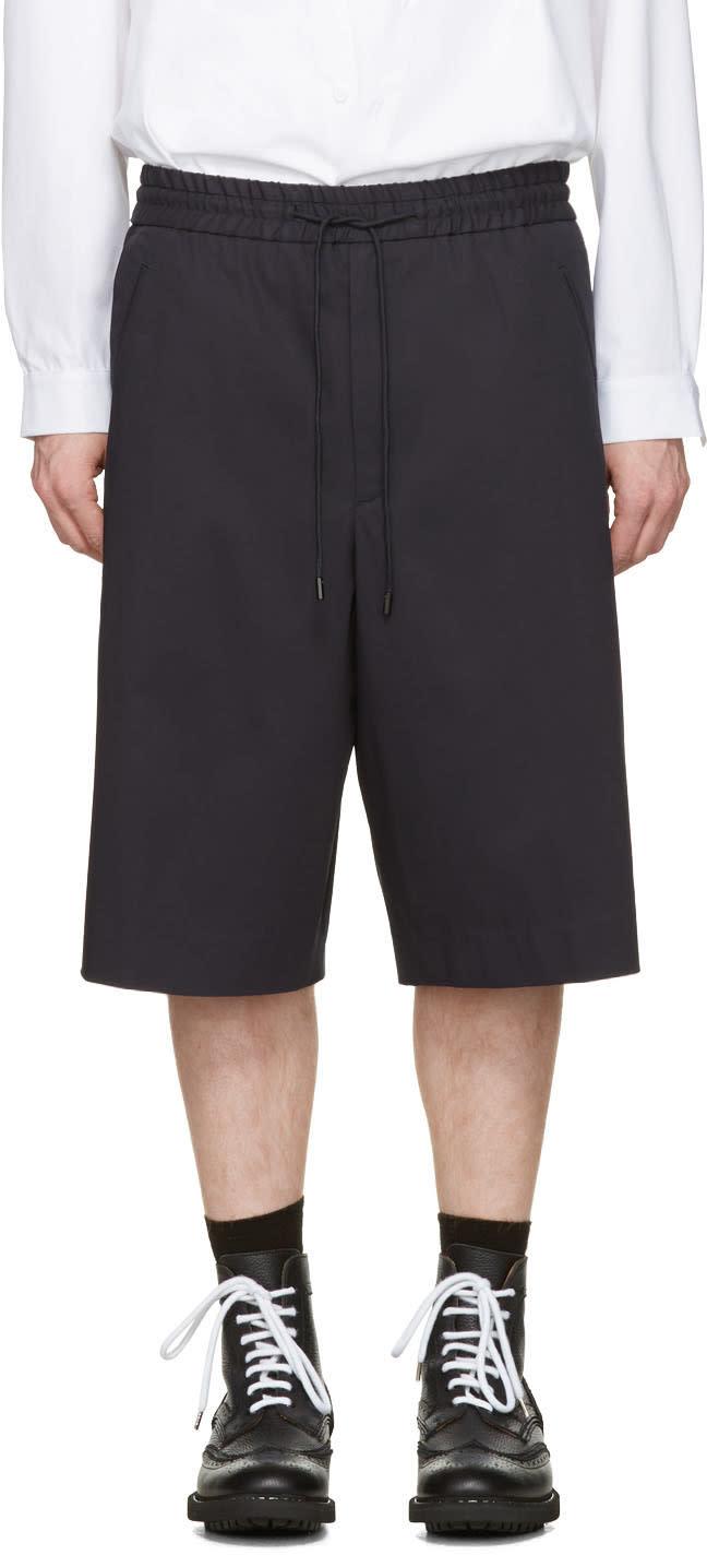 Juun.j Navy Oversized Shorts
