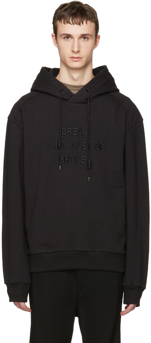 Juun.j Black break What Must Be Broken Hoodie