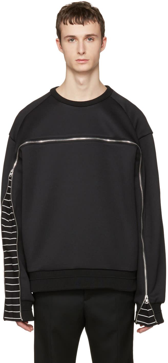 Juun.j Black Oversized Zipper Pullover