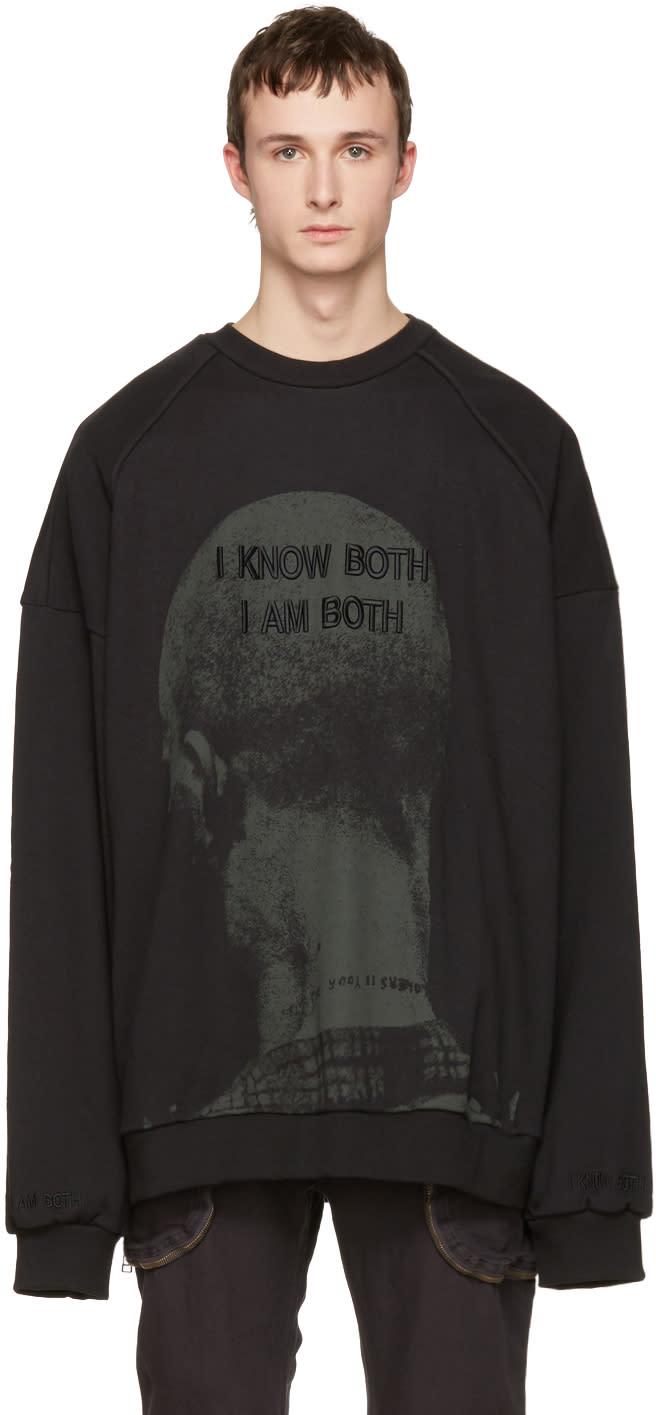Juun.j Black i Know Both I Am Both Pullover
