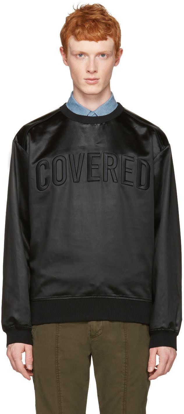 Juun.j Black Satin covered Pullover