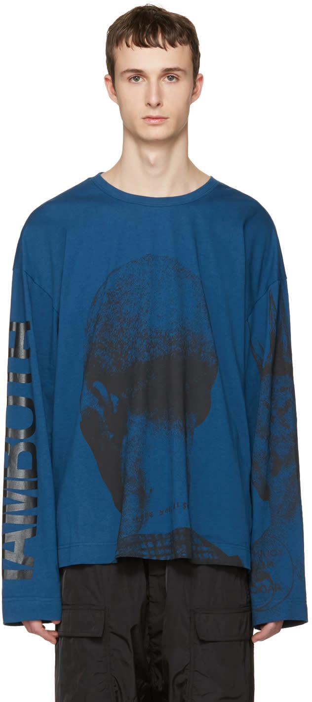 Juun.j Blue Printed T-shirt