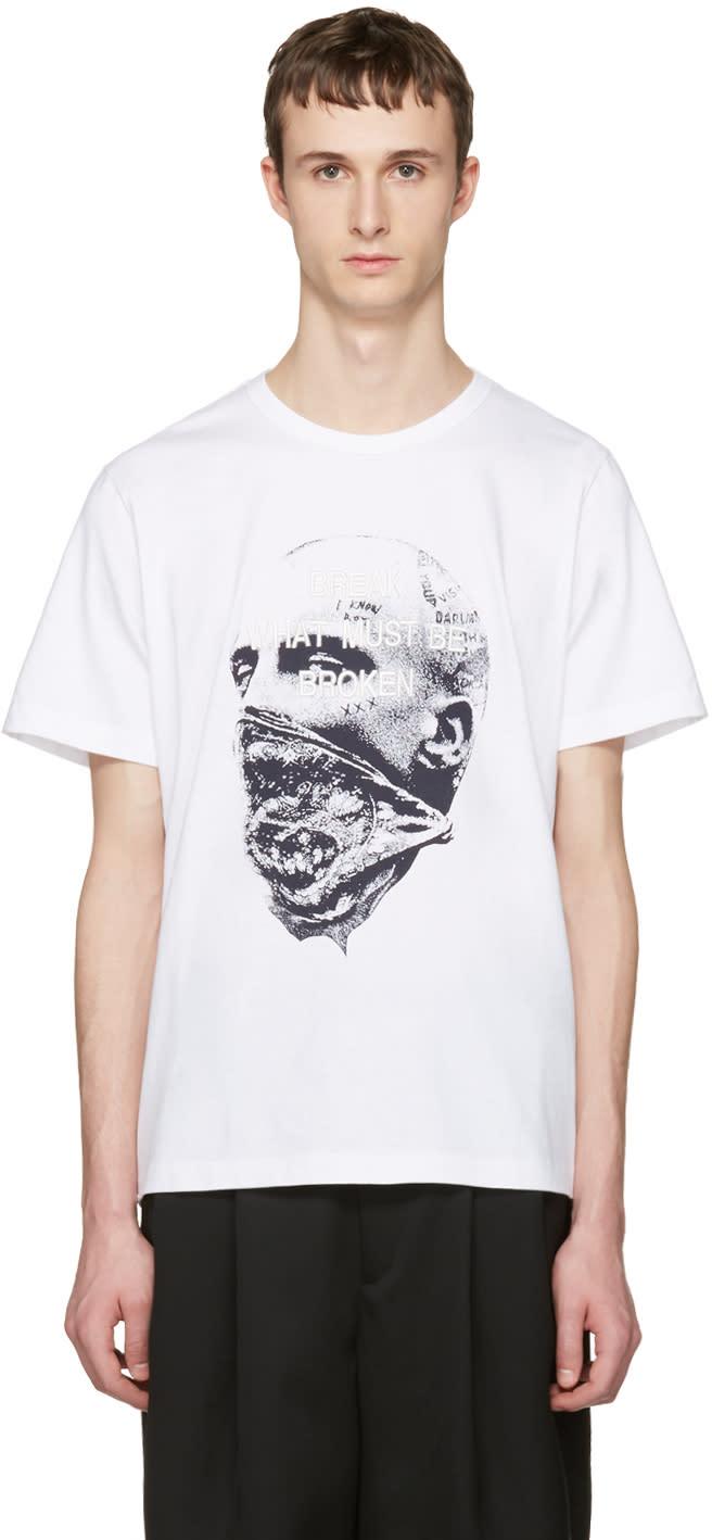 Juun.j White break What Must Be Broken T-shirt