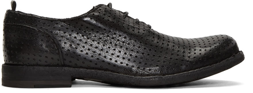 Officine Creative Black Perforated Ideal 23 Derbys