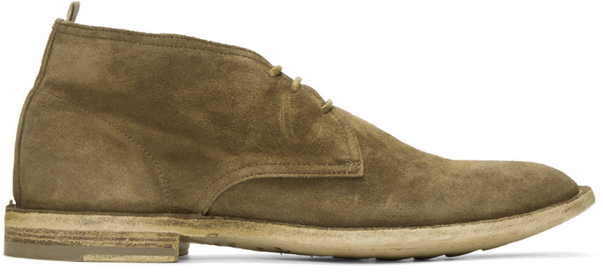 Officine Creative Tan Suede Standard 5 Boots
