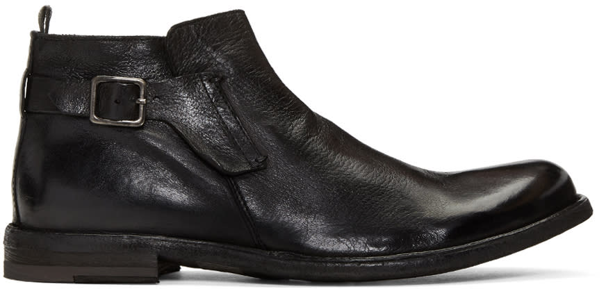 Officine Creative Black Ideal 26 Buckle Boots