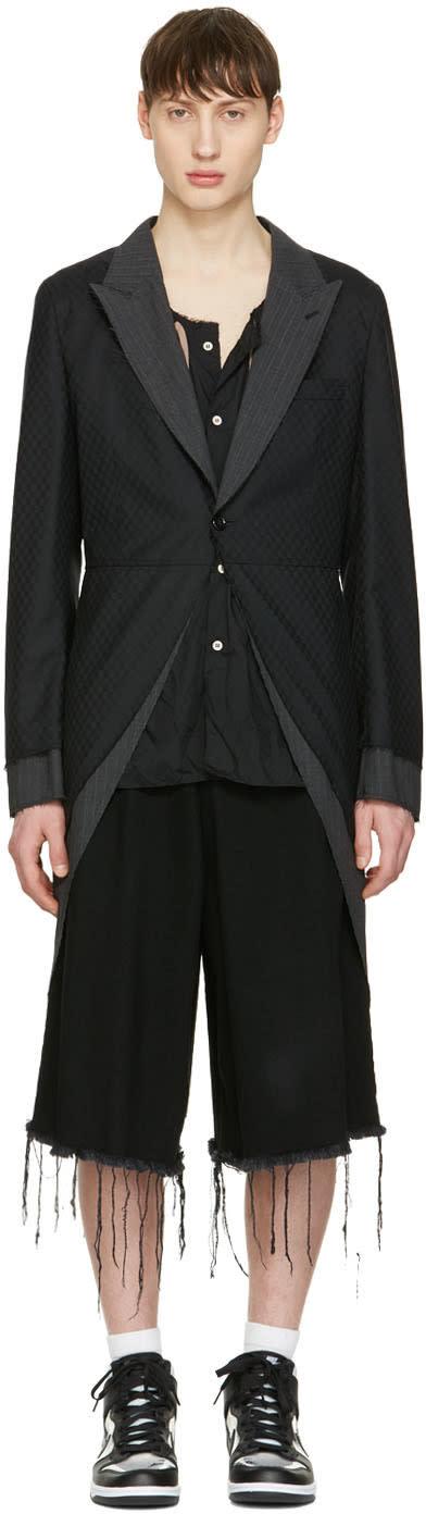 Comme Des Garçons Homme Plus Black Asymmetric Coat