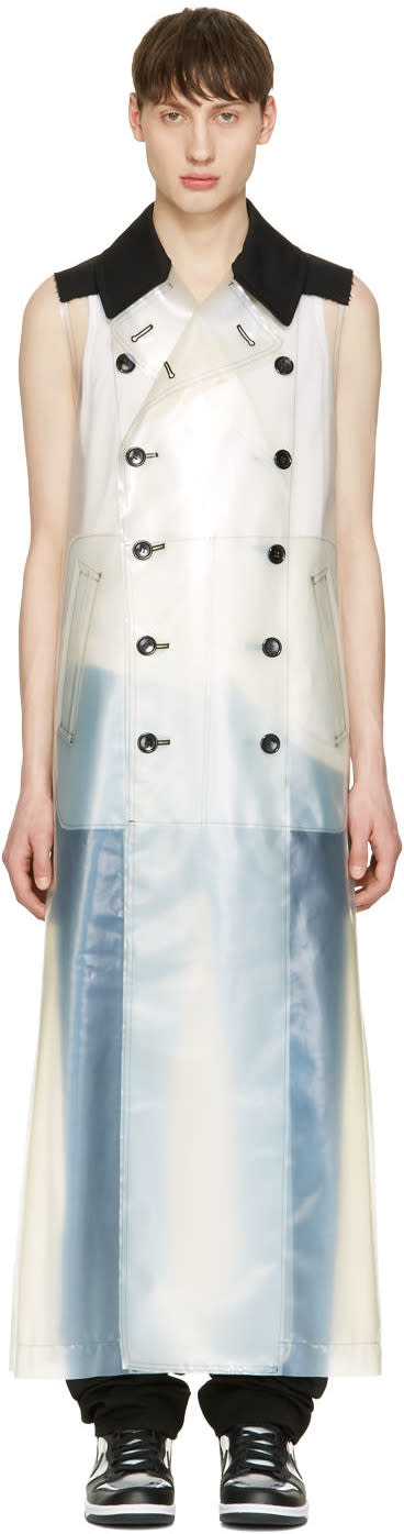 Comme Des Garcons Homme Plus Transparent Polyurethane Sleeveless Coat