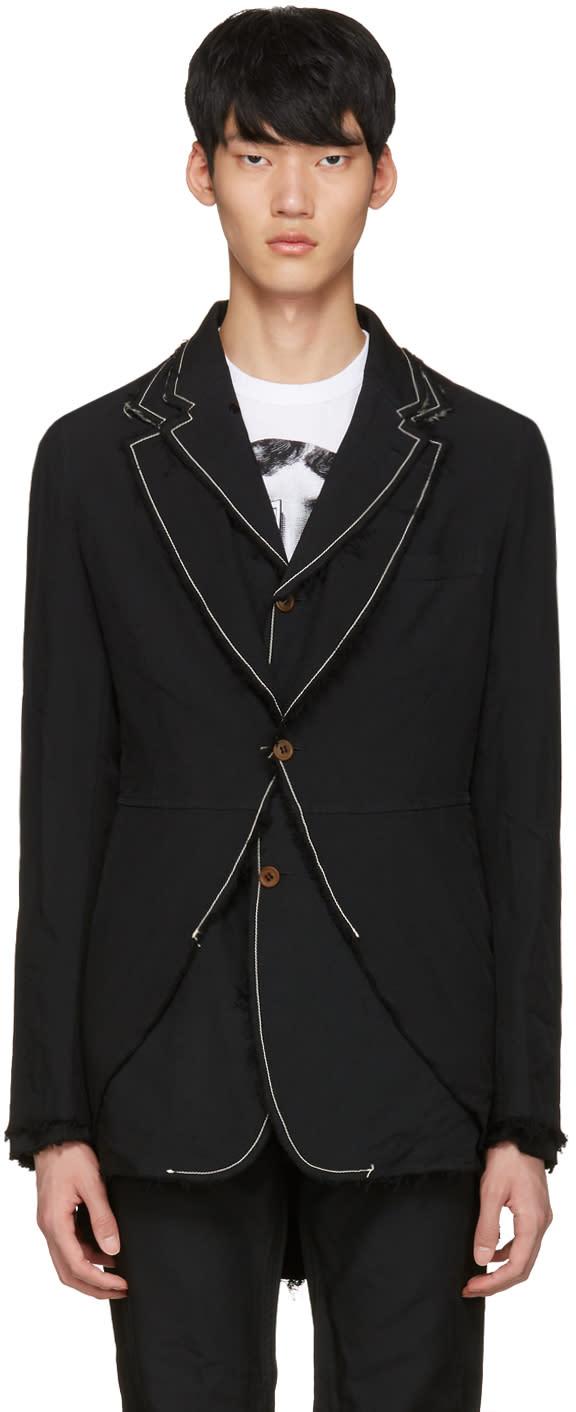 Image of Comme Des Garçons Homme Plus Black Double Blazer