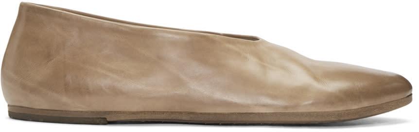 Marsell Brown Coltellacio Ballerina Flats