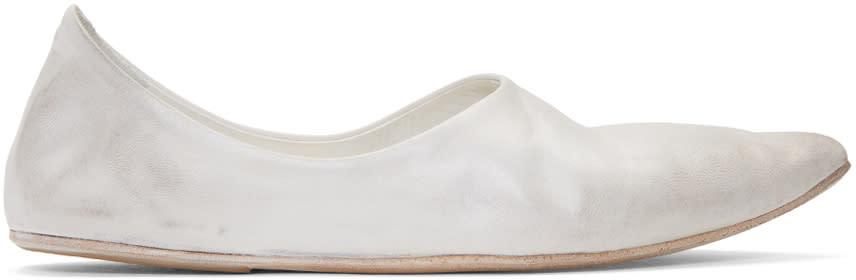 Marsell White Stuzzicadente Ballerina Flats