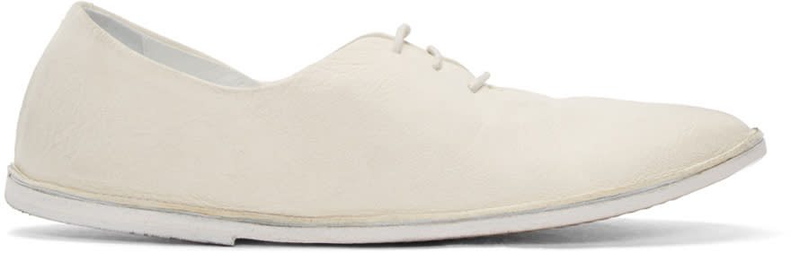Marsell White Strasacco Oxfords