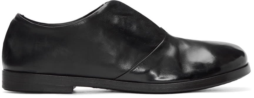 Marsell Black Laceless Lista Oxfords
