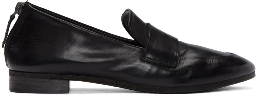 Marsell Black Colteldino Loafers