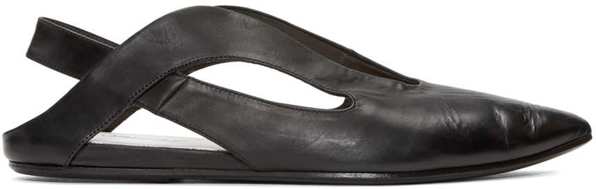 Marsell Black Open Heel Stuzzicadente Ballerina Flats