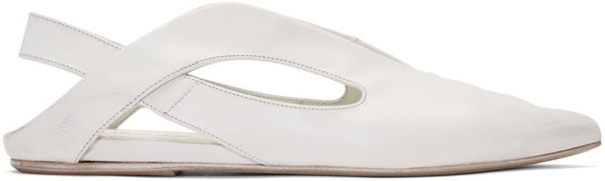 Marsell White Open Heel Stuzzicadente Ballerina Flats